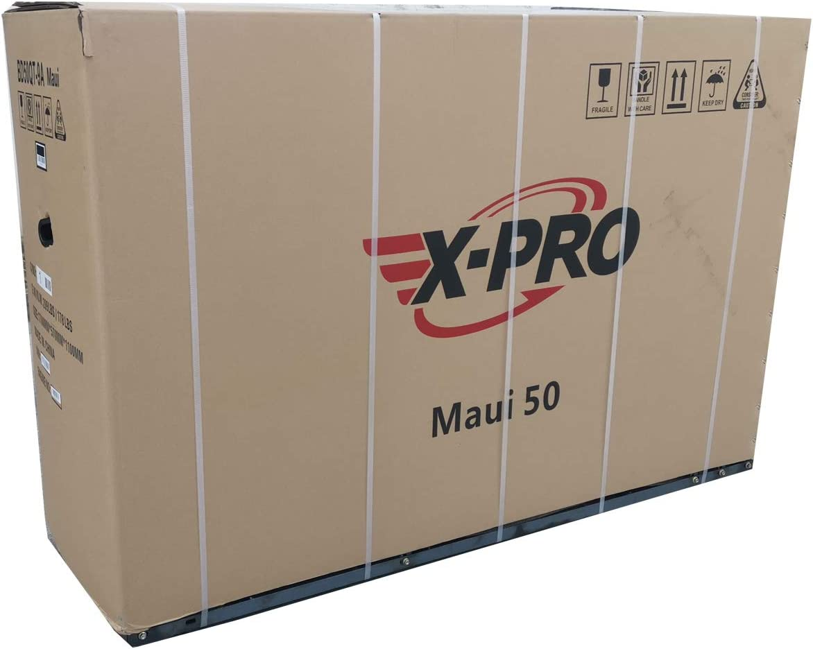 X-PRO Maui 50cc Moped Scooter Gas Moped Scooter Motorcycle 50cc Adult Scooter Aluminum Wheels with USB Charger Fully Assembled in Crate Black