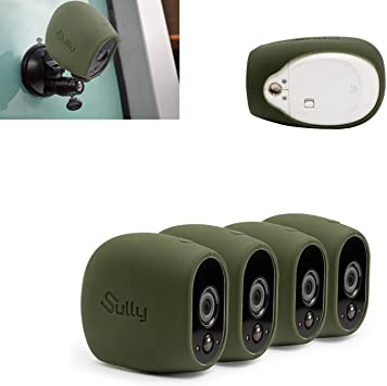 4 pcs green for Arlo HD Wireless Free Camera Pro... Silicone Skins for Arlo HD