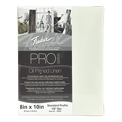 Amazon.com: Fredrix PRO Series Oil Primed Stretched Linen ...