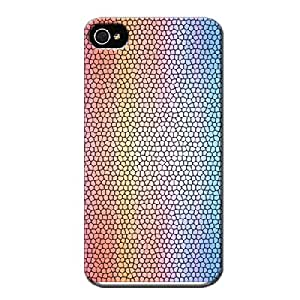 Textures Stained Glass 1 Rugged For Iphone 4 White Protective Hard Case