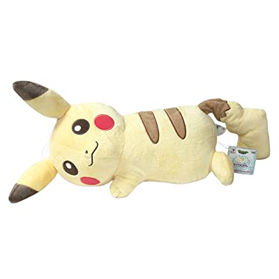 "Banpresto Pokemonlife @Room Large Plush ~ 12"" Lying Down Pikachu (49396): Video Games"