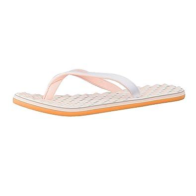 adidas Damen Zehentrenner eezay dots W ftwr white/haze coral s17/ice purple f16 40 2/3 clHivnu