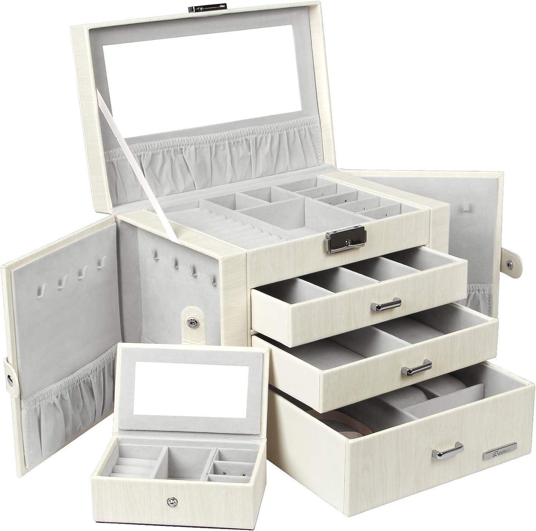 Mini Square Stars Travel Jewellery Box in Grey and Purple