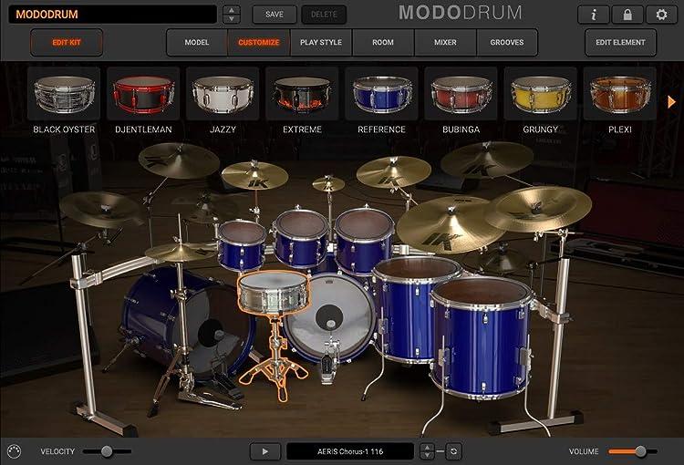 MODO Drum:カスタマイズ画面