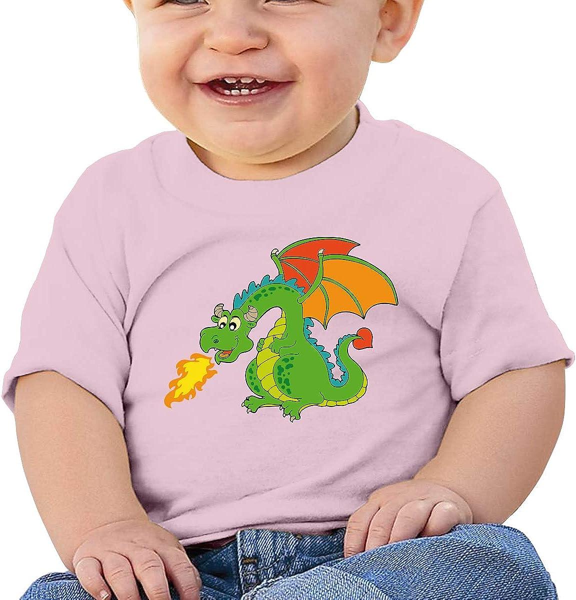 JunYueZ Toddler Short-Sleeve Cool Dinosaur Graphic Tees