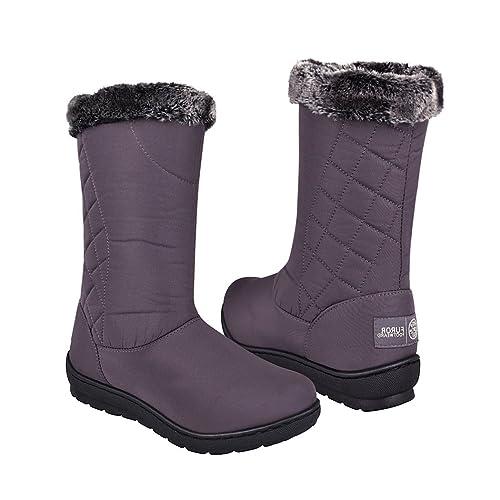 c4e9520cb0aea FUROR Botas para Invierno para Mujer Textil Gris 12584 22  Amazon ...