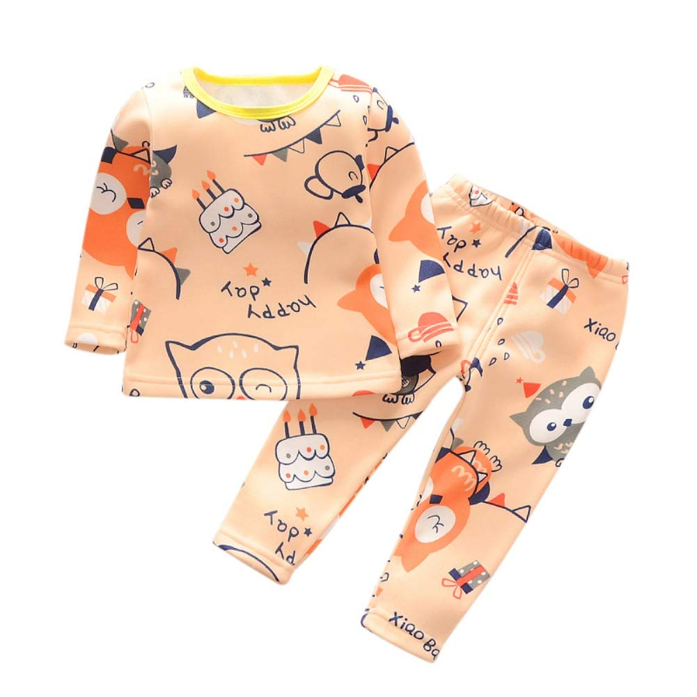 Shiningbaby Baby Boy Girl Winter Pyjamas Set Fleece Warm Toddler 2 Pieces Homewear