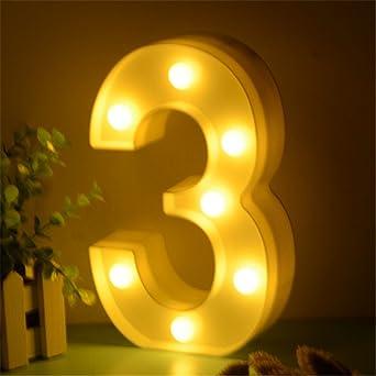 En Chiffres Lumineux Forme Led De Lampe Dubens 0123456 9WHIDE2Y