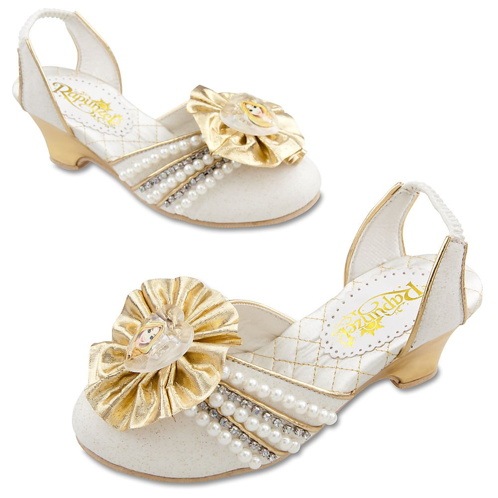 Amazon.com: Disney Store Tangled Princess Rapunzel Wedding Bride Bridal  Shoes (Size 11/12): Toys U0026 Games