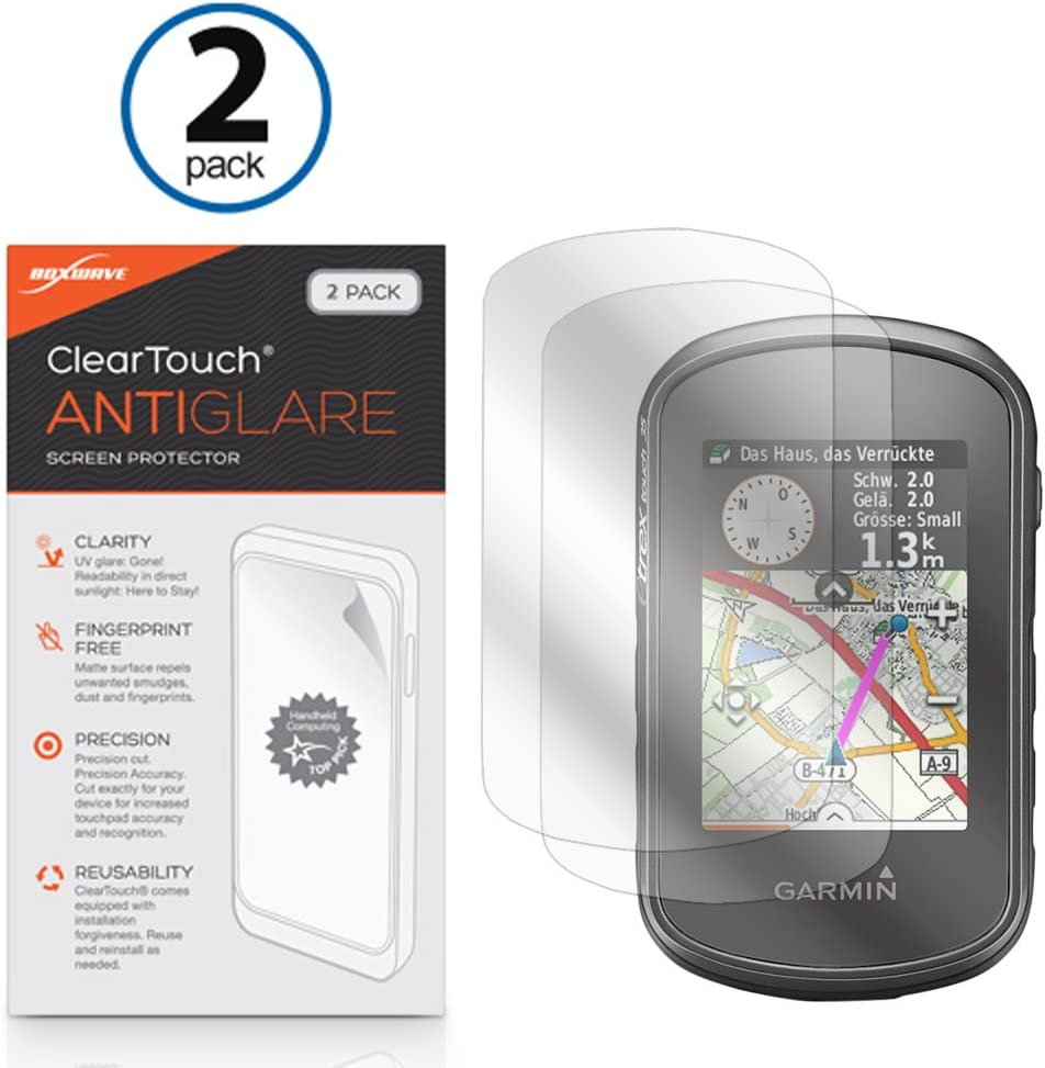 HD Clarity Protective Film 2-Pack Handheld GPS Navigator Accessories TUSITA Tempered Glass Screen Protector Bundle for Garmin eTrex Touch 25 35 35t
