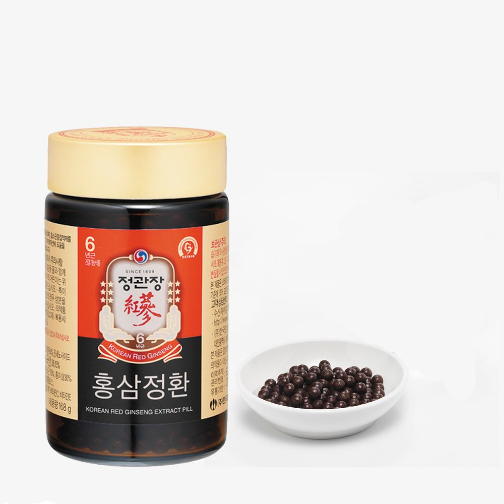 KGC Cheong Kwan Jang [Korean Red Ginseng Extract Pill] For Extra Strength, Energy, Performance and Mental Health Support - 168 Grams