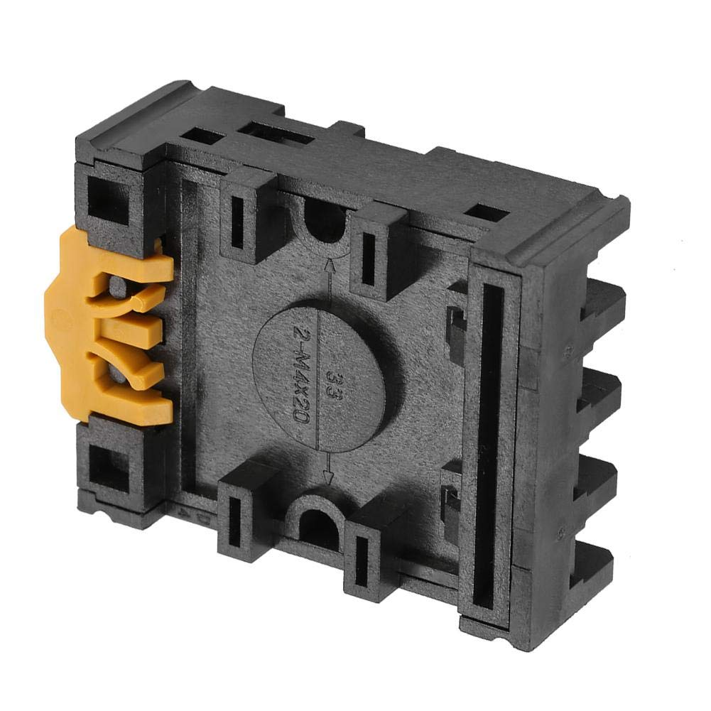 Micro Z/ócalo de Base de Rel/é 8 Clavijas Redondas Terminales de Tornillo Temporizador de Potencia Z/ócalo de Rel/é Soporte de Base Soporte de Riel Pf083a Para Rel/é de Tiempo MK2P AH3