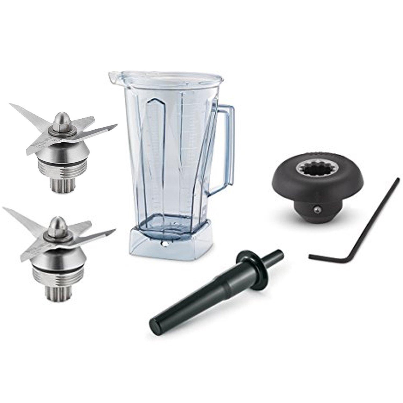 Vitamix partes - (1) 64 oz Clear Hoja de contenedor (1) (1) acelerador/herramienta de manipulación (1) vaso (1) llave Allen & instrucciones: Amazon.es: ...