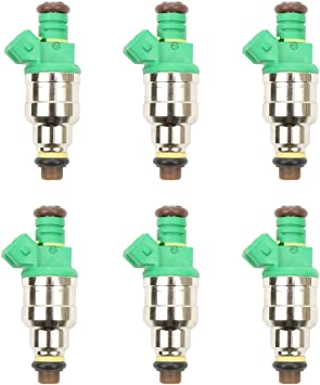 New OE Set of 6 Fuel Injectors Repair Kit For Injector Part 0280150415