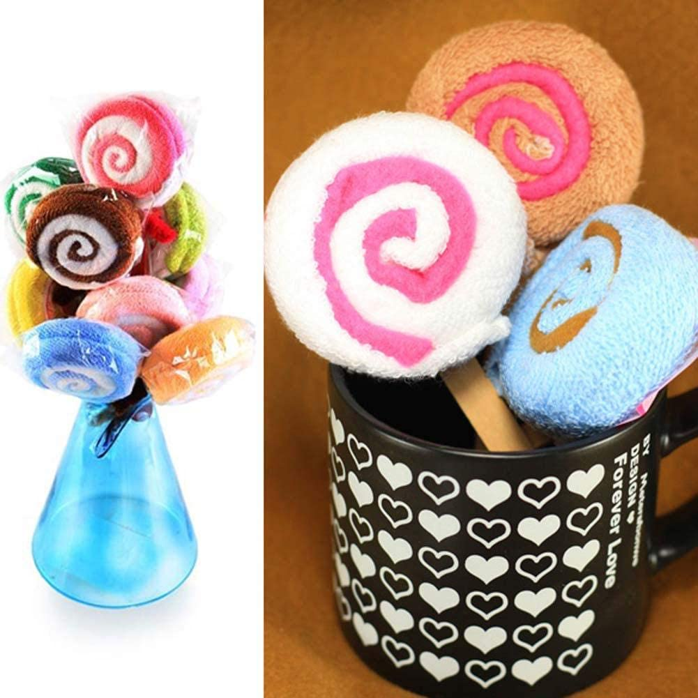 Lollipop Candy Towel Washcloth Wedding Favor Baby Shower Gift Dessert Wrap w//