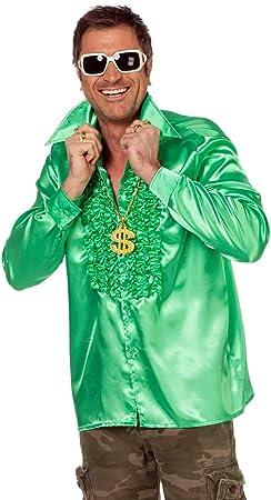 Traje de los hombres camisa de volantes verde, tamaño 50 - 64: Amazon.es: Juguetes y juegos