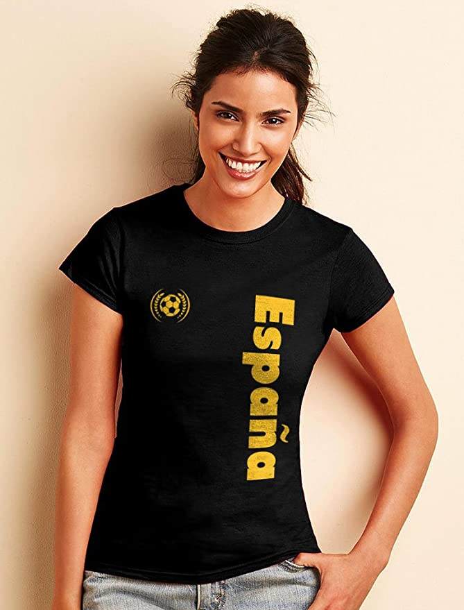 Green Turtle T-Shirts Camiseta para Mujer - Apoya a la Selección Española en el Mundial de Fútbol!: Amazon.es: Ropa y accesorios