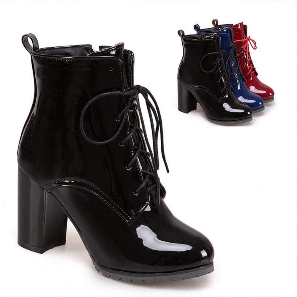 Z&J Herbst Herbst Herbst Und Winter Frauen Stiefel - Lace High Heel Damen Stiefel Martin Stiefel British Wind 4047 Extra Groß 6ea2c7