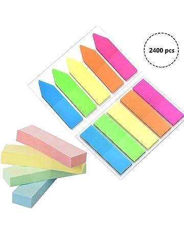 Itemer 5/pezzi//set fluorescente Sticky note indice bandiere linguette adesive per segnalibro B