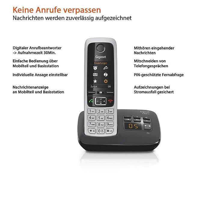 Amazon.com: C430 A – schnurlostelefon – anrufbeantworter mit ...