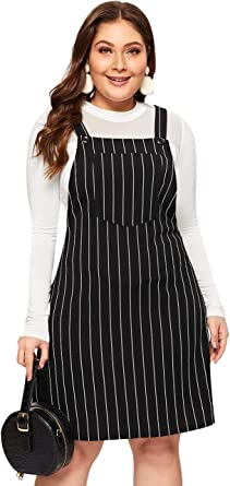 Beloved Womens A-line Overall Dress Corduroy Pinafore Bib Pocket Overall Dress