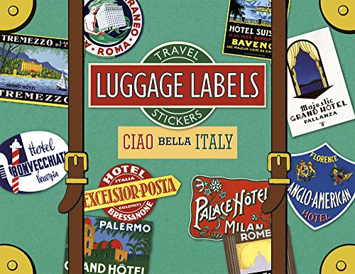 Ciao Bella Italy Luggage Labels (Travel Stickers)