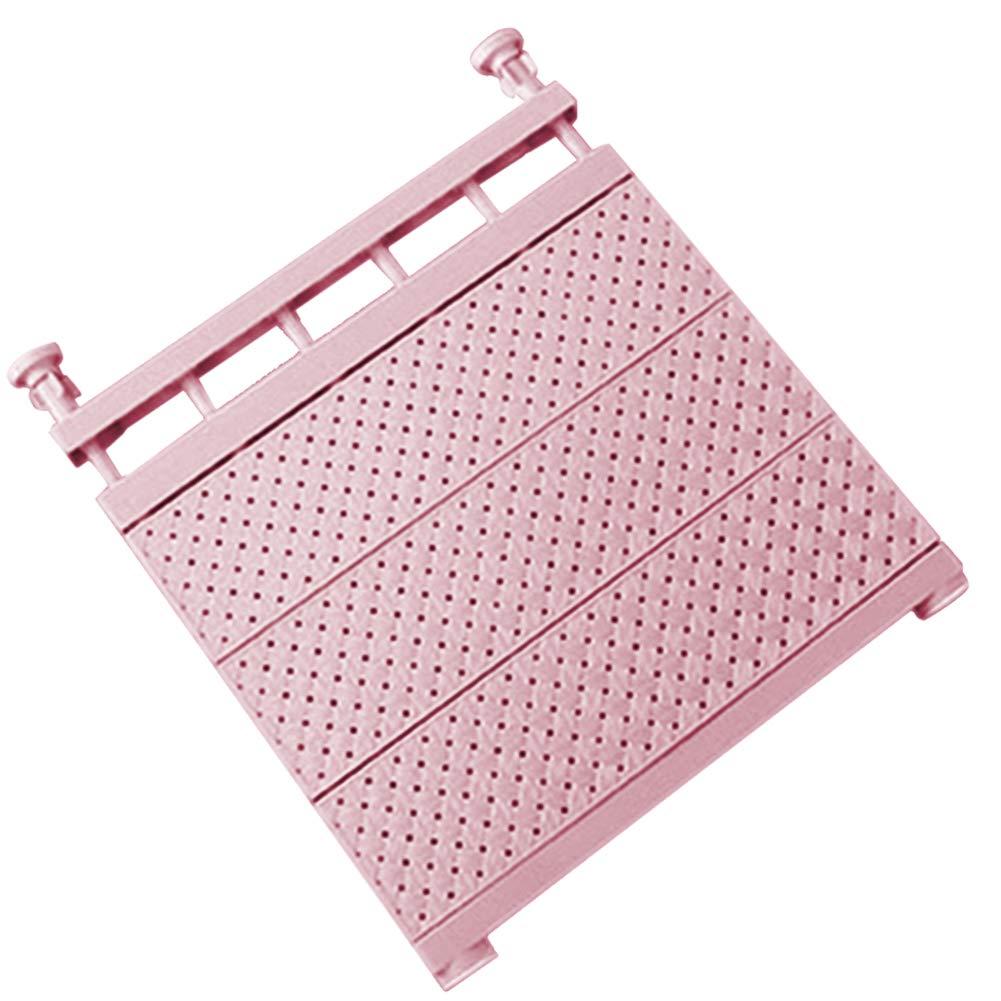 Rosa Scaffale Estensibile per Armadio di Supporto fissato al Muro di mensola di stoccaggio Regolabile per Guardaroba 29-46cm Alextry