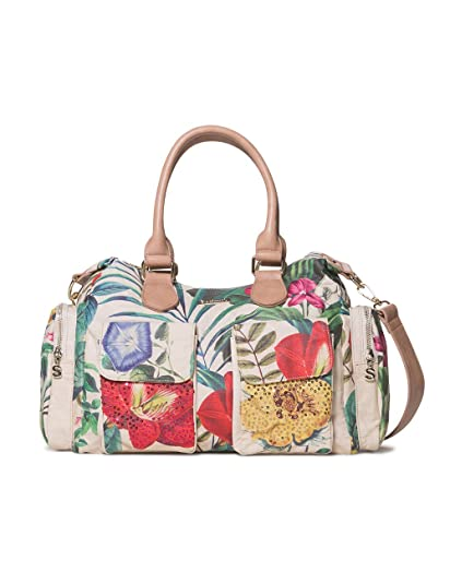 Desigual Damen Bag Clio London Women Schultertasche, Weiß