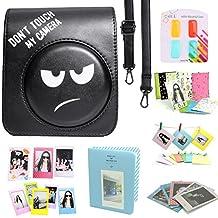 CAIUL Fujifilm Instax Mini 70 Case Accessories Bundle Black ( 8 Items ) - DON'T TOUCH MY CAMERA