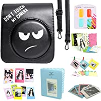CAIUL Fujifilm Instax Mini 70 Case Accessories Bundle Black (8 Items) - DONT TOUCH MY CAMERA