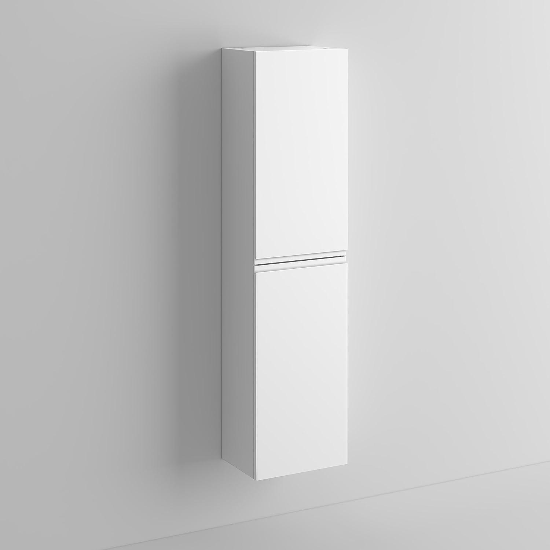 White gloss bathroom furniture - 1400 Mm Tall White Bathroom Furniture Wall Hung Modern Cupboard Cabinet Storage Unit Mf819 Ibathuk Amazon Co Uk Kitchen Home