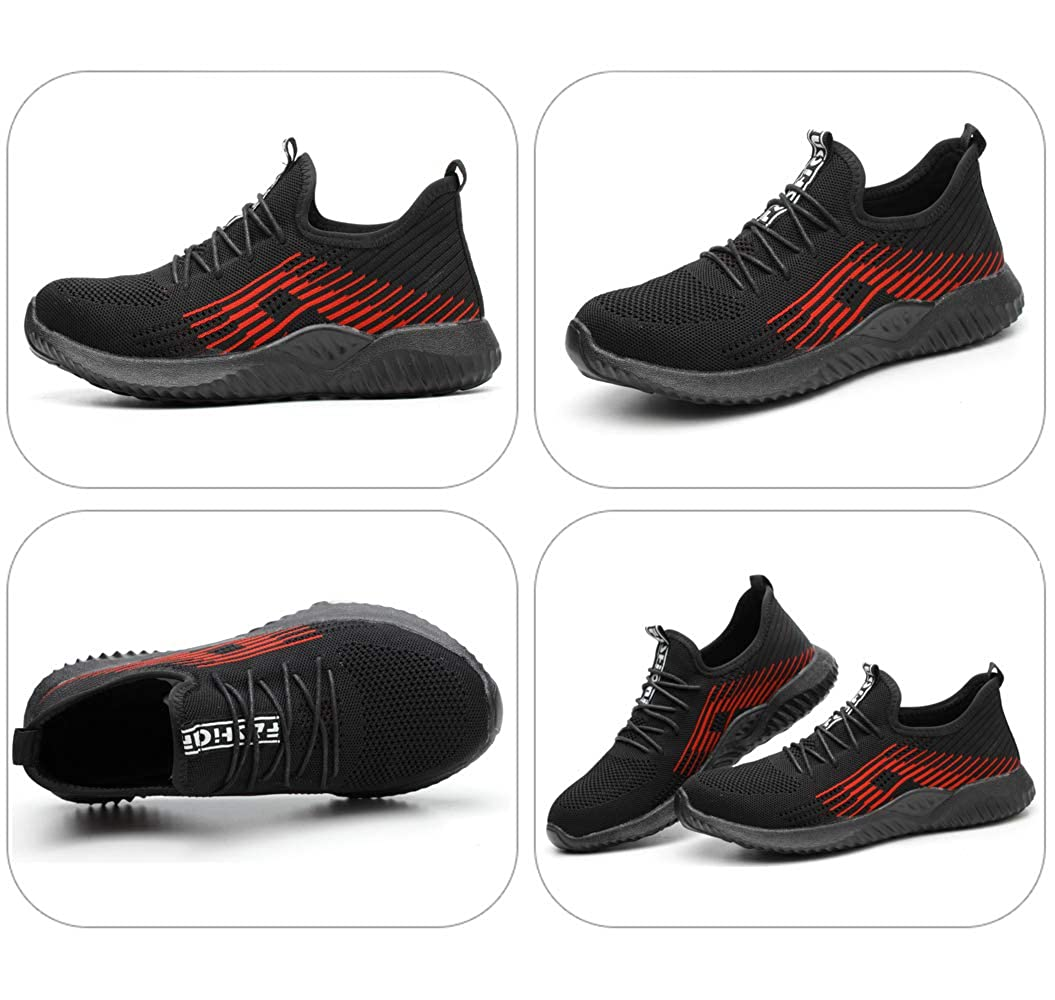 Safety Work Shoes Men Women Steel Toe Safety Shoes Puncture Proof Protective Breathable Light Comfortable Sneakers Unisex