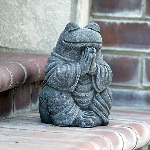 Garden Age Supply Meditating Frog Garden Statue Sculpture