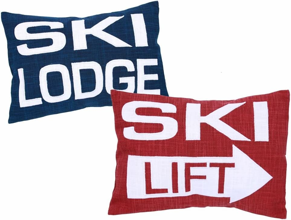 Ski Lodge Decor Pillows, Set of 2
