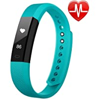 YFish Fitness Tracker [Version Mise à Jour] Alerte Intélligente - Smart Bracelet Watch Activité Sports Podomètre Alarme Compteur de Calories Moniteur de Sommeil Cardio Appel SMS Notification Rose