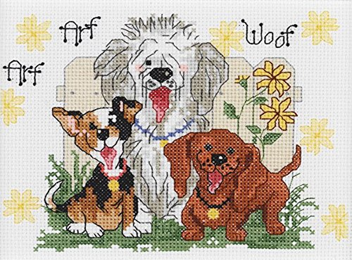 Janlynn 38-0204-Piece Suzy's Zoo Dogs of Duckport Mini Counted Cross Stitch Kit, 7 by (Mini Counted Cross Stitch)