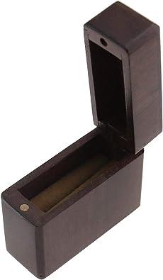 Create Idea Caja romántica para anillos de boda, proposta, compromiso, joyero, caja de madera con un solo anillo magnético de ceremonia portátil: Amazon.es: Joyería