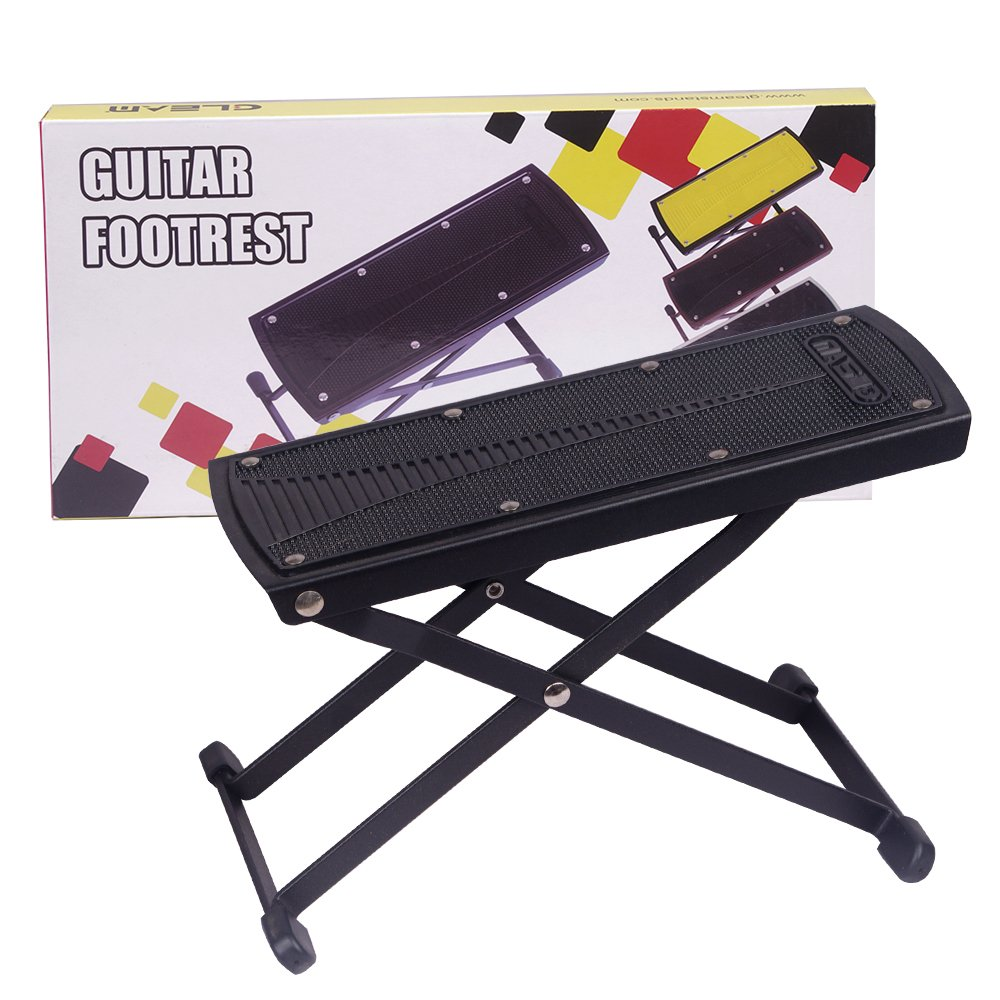 GLEAM Guitar Foot Rest, Stool, Footrest (Black) GFS-002