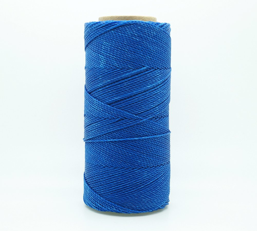 180yards Spool BLUE 1mm Waxed Polyester Twisted Cord Macrame Bracelet Thread Artisan String