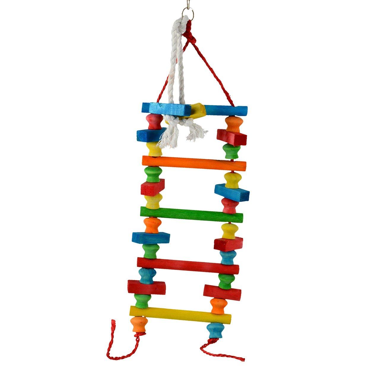 Animal Treasures LBW-0332 Birdie Multi-Block Ladder Bird Toys