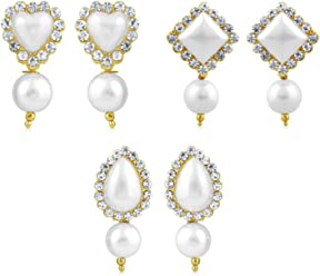 Sukkhi Copper Stud Earrings for Women (Golden) (CB70117GLDPD450)