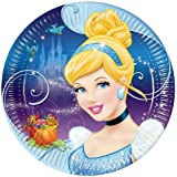 Amscan 23cm Plate Cinderella Sparkle (Pack of 8)