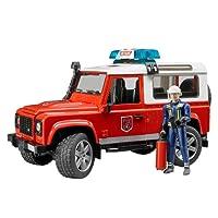 BRUDER - 02596 - Véhicule de pompier LAND ROVER Defender Station avec pompier