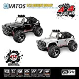 Vatos Remote Control Cars RC Cars Off Road High Speed 4WD 45km/h 1:22 Scale 50M Remote Control 2.4GHz Electric Vehicle Buggy RC Trucks with LED Night Vision VL-BG1511A-B (Black)