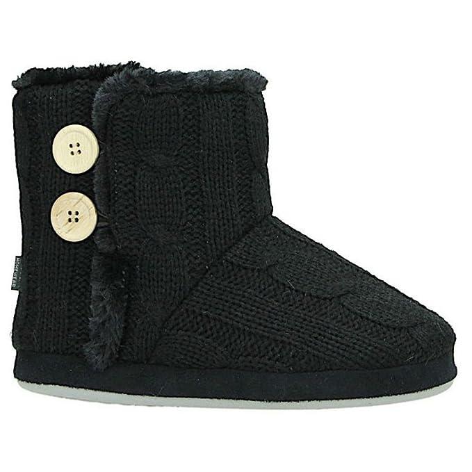 Indoor Outdoor Slipper Boots for Women Warm Cosy Super Soft Scotty Dog Velvet Kn