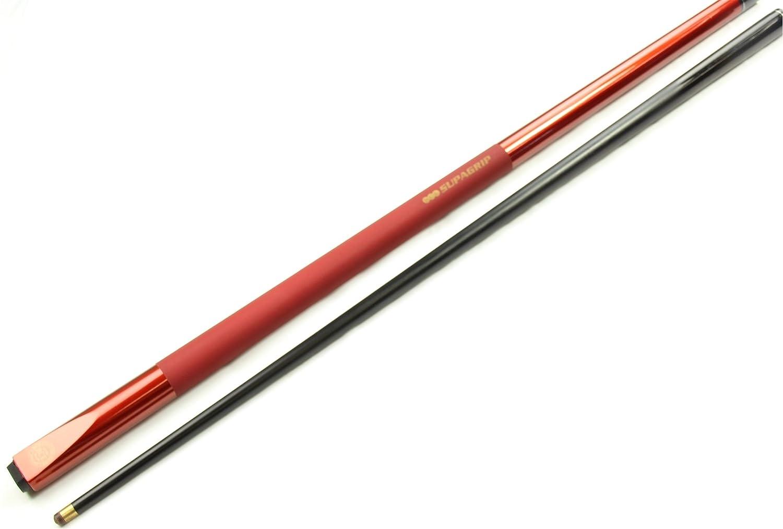 Rot-Metallisch BCE Jimmy White Snooker-//Billardqueue Schaft mit Graphit-Optik