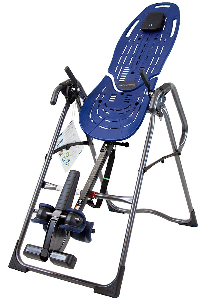 Teeter EP-960  Inversion Table, 3rd-Party Safety Certified, Precision Engineering, with Extended Ankle Lock Handle and Better Back Accessories