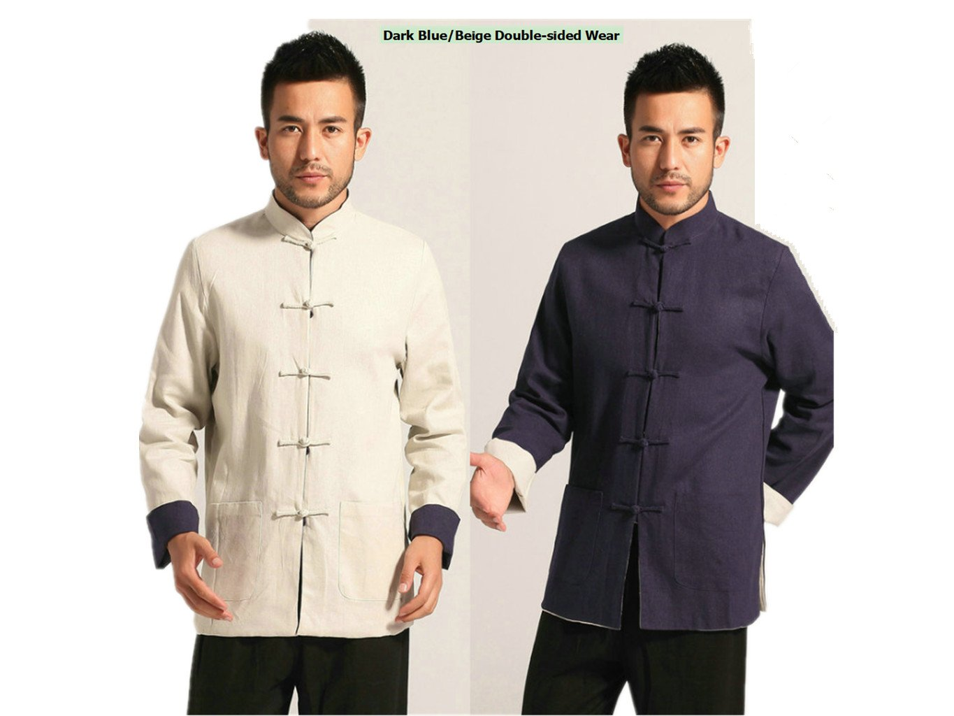 Cotton-flax Tang Suits Double-sided Wear Mens shirts Business Jackets
