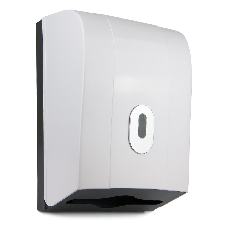 Washroom Hub Paper Towel Dispenser - Wall Mounted - Wave Model (White)