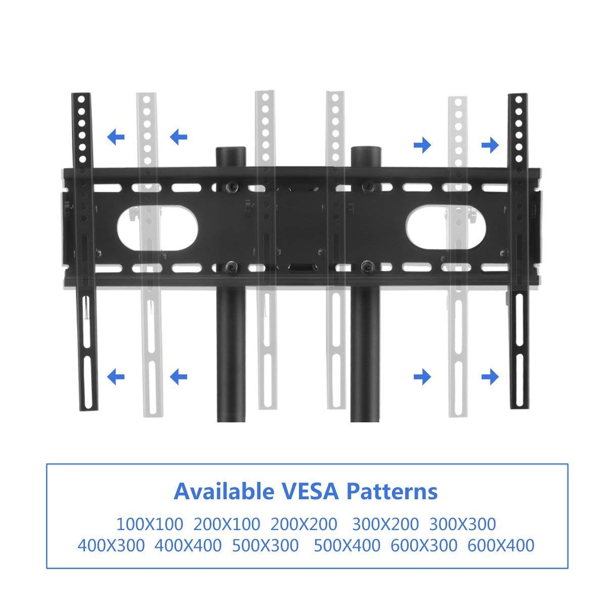 LED Plasma Mobile TV Mount Stand with Wheels and Shelves for LCD ML5075 Suptek Rolling TV Cart for 32-70 inch Flat Screen